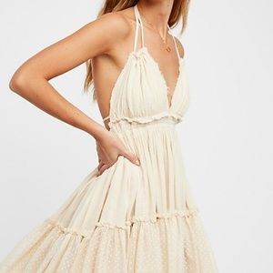 NWT Free People 100 DEGREES Mini Dress Ivory